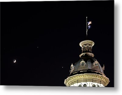 Sc State House Dome And Conjunction Metal Print