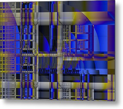 Metal Print featuring the digital art Scaffold II by Richard Ortolano