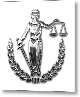 Scales Of Justice Collection Metal Print by Marvin Blaine