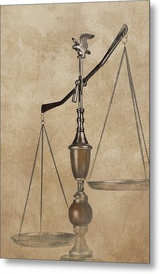 Scales Of Justice Metal Print