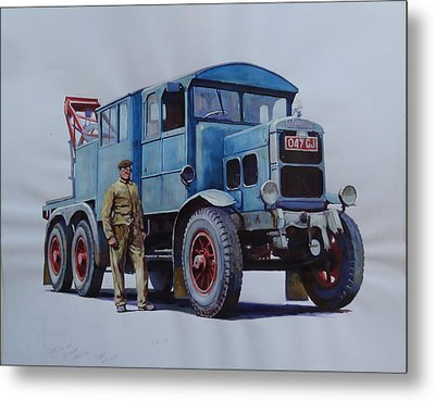 Scammell Wrecker. Metal Print by Mike Jeffries