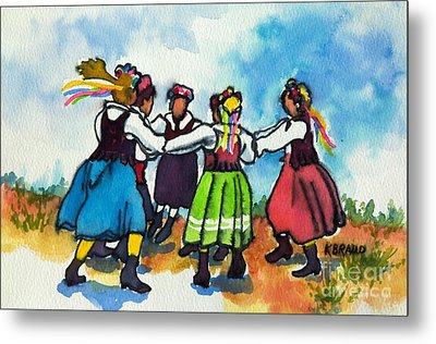 Scandinavian Dancers Metal Print
