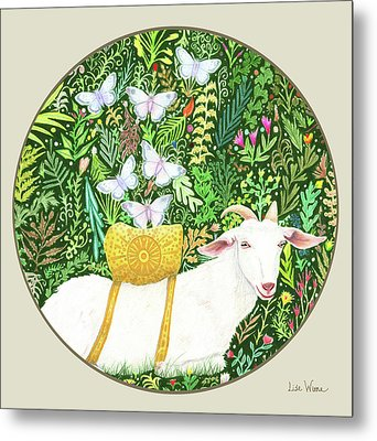Scapegoat Button Metal Print