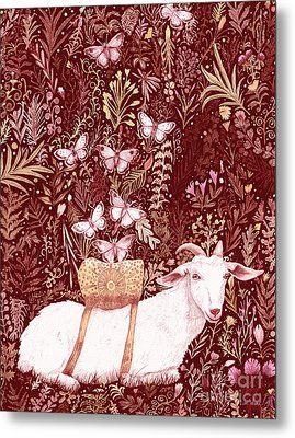 Metal Print featuring the digital art Scapegoat Healing Tapestry Print by Lise Winne
