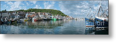 Scarborough Harbour Metal Print by Martin Williams
