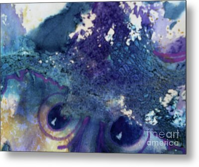 Metal Print featuring the painting Scarecrow Eyes by Kathy Braud