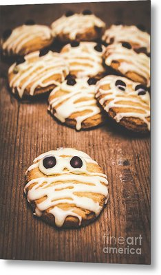 Scared Baking Mummy Biscuit Metal Print by Jorgo Photography - Wall Art Gallery