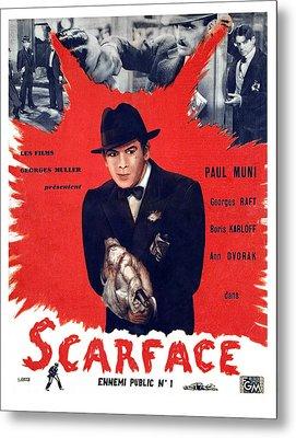 Scarface, Paul Muni, 1932 Metal Print by Everett