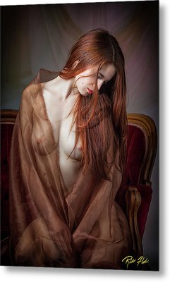 Metal Print featuring the photograph Scarlet Repose by Rikk Flohr