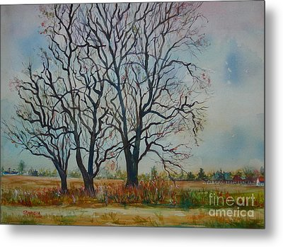 Scary Tree Metal Print by Joyce A Guariglia