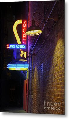 Metal Print featuring the photograph Scat Jazz Lounge 2 by Elena Nosyreva