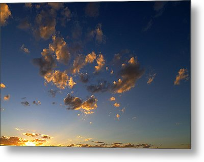 Scattered Clouds At Sunset Metal Print