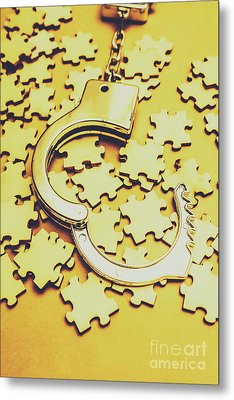 Scattered Clues In A Unsolved Investigation  Metal Print by Jorgo Photography - Wall Art Gallery