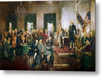 Scene At The Signing Of The Constitution Metal Print