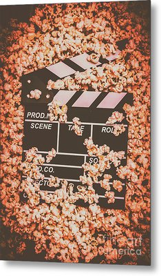 Scene From A Film Production Metal Print