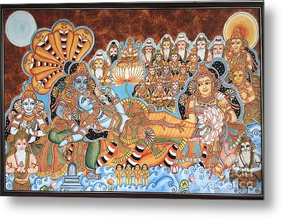 Scene From Haven -ananthashayanam Metal Print by Nirmala Menon