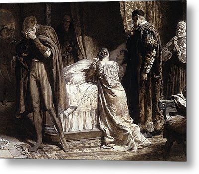 Scene From Romeo And Juliet Metal Print by Frank Dicksee