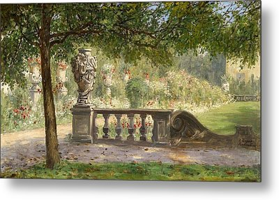 Scene From The Mirabell Park Metal Print