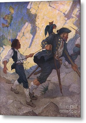 Scene From Treasure Island Metal Print by Newell Convers Wyeth