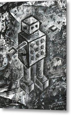 Scene Kid Robot Metal Print by Roseanne Jones
