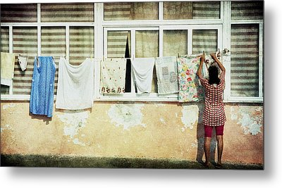 Scene Of Daily Life Metal Print