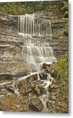 Scenic Alger Falls  Metal Print by Michael Peychich