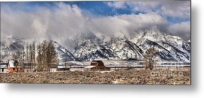 Metal Print featuring the photograph Scenic Mormon Homestead by Adam Jewell
