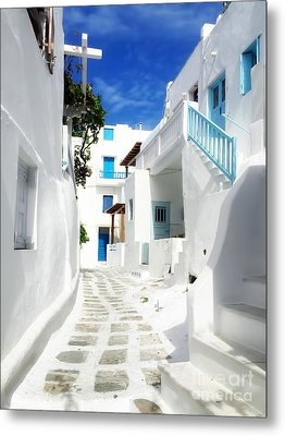 Scenic Mykonos Metal Print by HD Connelly