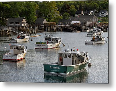 Scenic New Harbor Maine Metal Print by Juergen Roth