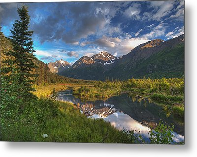 Scenic View Of Eagle River Valley Metal Print by Michael Jones