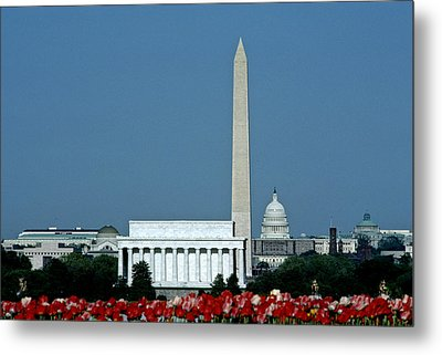 Scenic View Of Washington D.c Metal Print by Kenneth Garrett