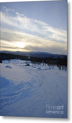 Scenic Vista From Marshfield Station In The White Mountains New Hampshire Usa Metal Print by Erin Paul Donovan