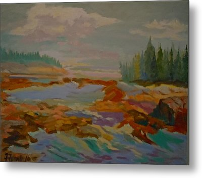 Metal Print featuring the painting Schoodic Inlet 2 by Francine Frank