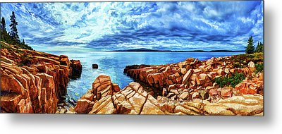 Schoodic Point Granite Metal Print by ABeautifulSky Photography