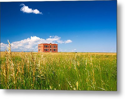 School Abandoned Metal Print by Todd Klassy