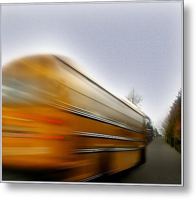 School Bus Metal Print