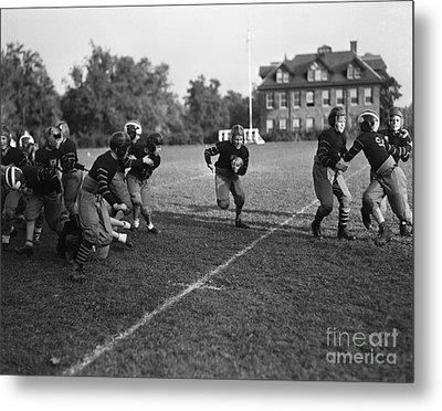 School Football Team, C.1930s Metal Print