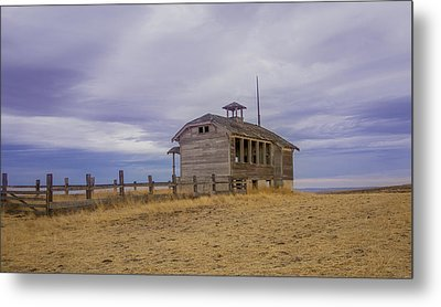 School House Metal Print by Jean Noren