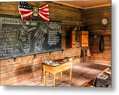 Schoolhouse Classroom At Old World Wisconsin Metal Print by Christopher Arndt