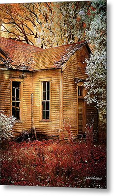 Schoolhouse In The Spring Metal Print