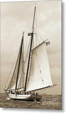 Schooner Sailboat Spirit Of South Carolina Sailing Metal Print