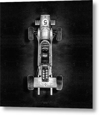 Metal Print featuring the photograph Schuco Matra Ford Top Bw by YoPedro