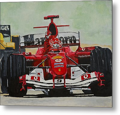 Schumacher Wins Metal Print by Terry Gill