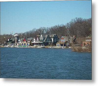 Metal Print featuring the photograph Schuylkill River - Boathouse Row In Philadelphia by Bill Cannon