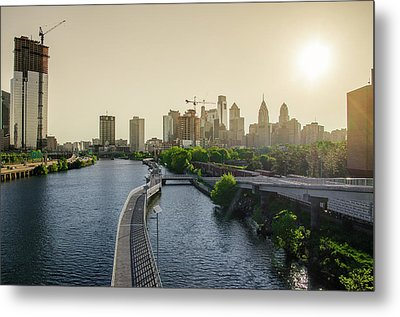 Metal Print featuring the photograph Schuylkill River Walk At Sunrise by Bill Cannon