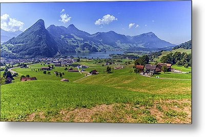 Schwyz And Zurich Canton View, Switzerland Metal Print