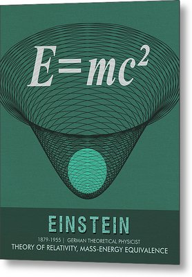 Science Posters - Albert Einstein - Theoretical Physicist Metal Print