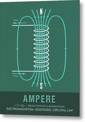 Science Posters - Andre Marie Ampere - Physicist, Mathematician Metal Print