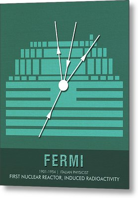 Science Posters - Enrico Fermi - Physicist Metal Print