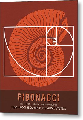 Science Posters - Fibonacci - Mathematician Metal Print